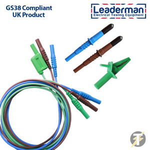 Ldm003 Electrical Test Lead Set With Crocodile Clip And Probes For Test Meters