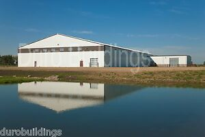 Durobeam Steel 80x80x20 Metal Building Prefab Clear Span Airplane Hanger Direct