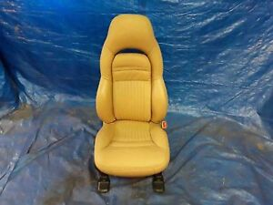 Rh Right Passenger Camel Tan Leather Electric Front Seat Chevy Corvette 99 04