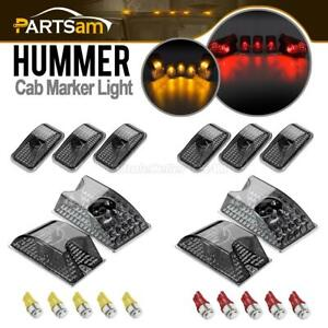 10xsmoke Roof Clearance Top Light W red amber 5050 168 Led Bulb For 03 09 Hummer