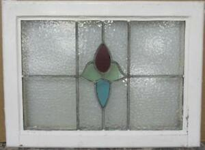Mid Sized Old English Leaded Stained Glass Window Gorgeous Floral 24 X 17 75