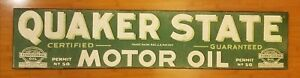 42 Oop Quaker State Motor Oil Wood Decor Home Wall Art Plaque Gasoline Mancave
