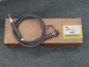 Enerpac 2 speed Manual Hydraulic Hand Pump Two Speed P392 With Hose