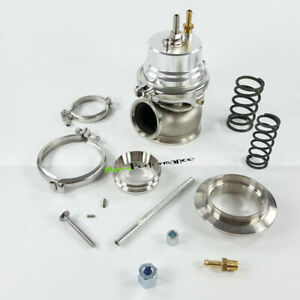 Adjustable External 60mm Turbo External Wastegate Silver Color Flange v Band