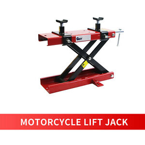 1100lb Motorcycle Dirtscissor Lift Hoist Stand Lift Jack Atv Bike Scooter