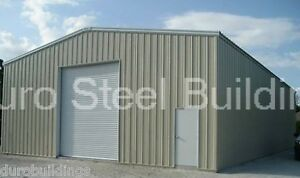 Durobeam Steel 30x66x16 Metal Prefab Garage Clear Span I beam Building Direct