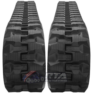 Two Rubber Tracks For Bobcat 331 331e X331e X331 X331d 300x52 5x80 T1 Tread
