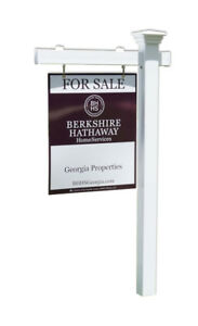 Mason Real Estate Yard Sign Post And Stake White Vinyl 6 Feet With 36 Arm