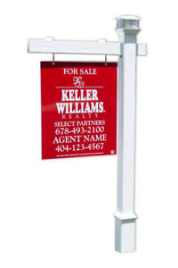 Khaleesi Real Estate Sign Post W Stake Solar Led Light Cap 6 Feet With 47 Arm