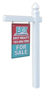 Economy Real Estate Yard Sign Post And Stake Gothic Cap Style 5 Feet W 36 Arm