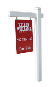 Economy Real Estate Yard Sign Post And Stake Flat Cap Style 6 Feet W 36 Arm