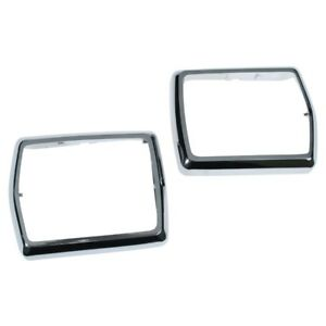 1968 1969 1970 Ford Mustang Chrome Seat Belt Buckle Bezels Pair 68 15865 New