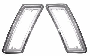 1970 Ford Mustang Front Side Marker Light Bezels Pair Lh Rh 70 10622 23 New
