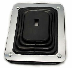 Hurst Style Rubber Shifter Boot With Chrome Plate 5 5 8 X 6 3 4 Universal