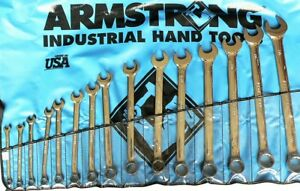 Armstrong 25 642 15 Piece 12 Point Full Polish Long Combination Wrench Set
