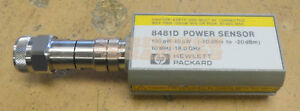 Hp Agilent 8481d Power Sensor 10mhz 18ghz