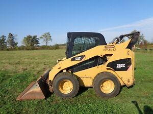 2008 Caterpillar 262c Skid Loader Cab heat air Hyd Qc 2 Speed Pilot Ctls