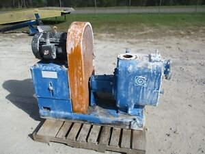 Goulds 4 Iron Trash Pump With Motor And Base 1091026 used