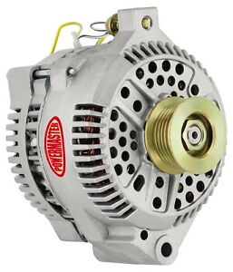Powermaster 47759 Alternator 200 Amp Large Case Straight Mount W adaptor Harness