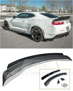 For 16 up Chevrolet Camaro All 1le Wicker Bill Extended Style Rear Trunk Spoiler