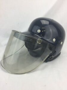 Vintage Police Riot Gear Helmet With Face Guard Shield Riot Control Protection