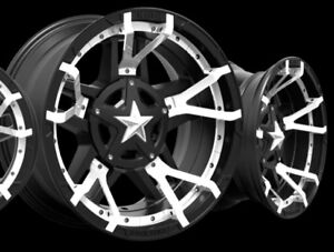 20 Inch Black White Wheels Rims Ford Truck F250 F350 Superduty 8x170 20x9 Set 4