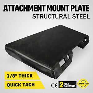 3 8 Quick Tach Attachment Mount Plate Adapter Trailer Hitch 100 Lbs