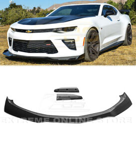 For 16 Up Camaro Ss Lt Ls Painted Carbon Flash Front Lip Splitter Zl1 1le Style
