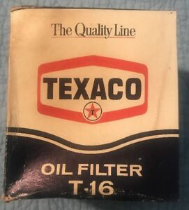 Unopened New Old Stock Vintage Texaco T 18 Oil Filter