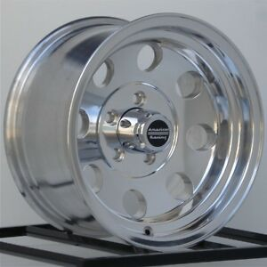 15 Inch Polished Wheels Rims Jeep Wrangler Cherokee Ford Ranger Five 5 Lug Baja