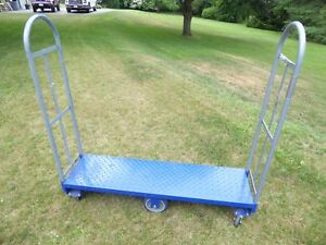 National 16 X 63 Steel Delivery Dolly U boat Utility Cart Platform Hand Truck