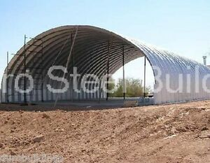 Durospan Steel 40x50x16 Metal Building Pitching Batting Cage Open Ends Direct