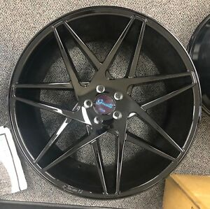 22 Giovanna Parma Wheels Tires Black Audi A8 S8 S7 Bentley Gt Mercedes S550