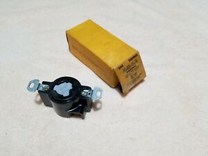 Hubbell 23000hg 20 Amp 125 Volts Hubbellock Receptacle New Free Shipping