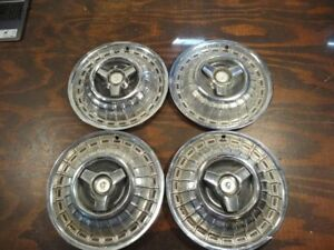 Four 1967 68 Mercury Spinner Hubcaps Wheel Covers R99