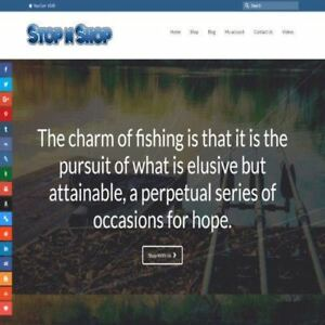 Fishing Shop Online Business Website For Sale Hosting Domain Amazon