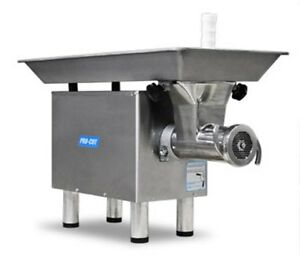 Commercial 22 Butcher Meat Grinder 1hp 110 V 1 Ph Stainless Head Ring