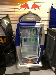Red Bull Energy Gas Pump Refrigerator Cooler Near Perfect Condition