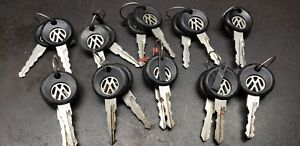Lot Of Ten Pairs Hv Ah Vw Die Cut Logo Volkswagen Key Mk2 Jetta Golf Fox Cabrio