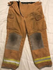Lion Body Guard Firefighter Turnout Gear Bunker Turnout Pants W Liner 44 X 34