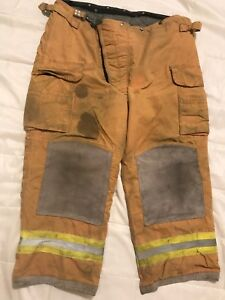Lion Body Guard Firefighter Turnout Gear Bunker Turnout Pants W Liner 42 X 28