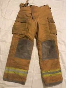Lion Body Guard Firefighter Turnout Gear Bunker Turnout Pants W Liner 38 X 34