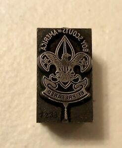 Boy Scouts Of America Printing Block very Collectible Bsa Logo Letterpress