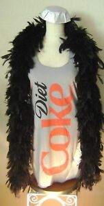 DIET COKE COSTUME Tank DRESS Adult Soda Bottle Can Coca-Cola HAT and FEATHER BOA