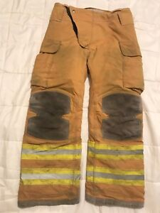Lion Janesville Firefighter Turnout Gear Bunker Turnout Pants W Liner 34 X 32