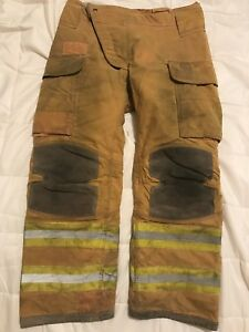 Lion Janesville Firefighter Turnout Gear Bunker Turnout Pants W Liner 38 X 32