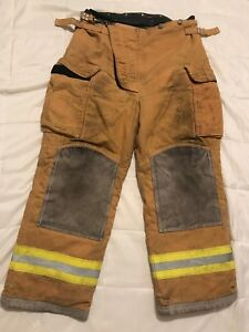 Lion Body Guard Firefighter Turnout Gear Bunker Turnout Pants W Liner 38 X 28
