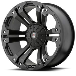 20 Black Wheels Rims Chevy Truck Dodge Ram Truck Ford F F150 E150 5 Lug 5x5 5 5