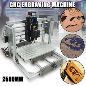 3 Axis Mini Laser Engraver Cnc Engraving Router Milling Machine Kit 2500mw Diy