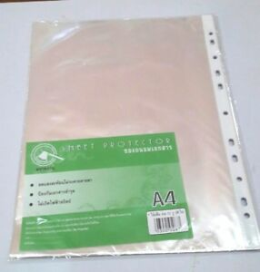 Pack Of 40 60 80 Economy Weight Clear Poly Sheet Page Protectors Non stick A4